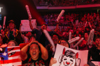 Esports fans react to an epic moment during the Overwatch World Cup finals at BlizzCon 2017. (Photo: Business Wire)