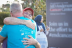 Lung Love Walk Houston participants welcomed Eric Stonestreet, spokesperson for Bristol-Myers Squibb's Ready. Raise. Rise. campaign, at The Waterworks at Buffalo Bayou Park on Saturday, Nov. 4, 2017 in Houston. (Anthony Rathbun/AP Images for Bristol-Myers Squibb)