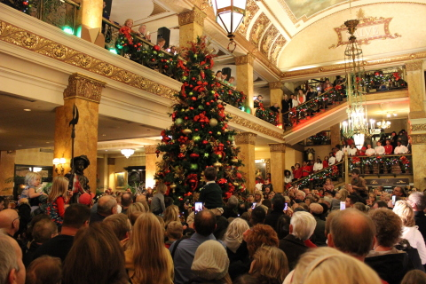 The Pfister Hotel's Tree Lighting Ceremony Offers a Magical Experience for Guests of All Ages (Photo: Business Wire)