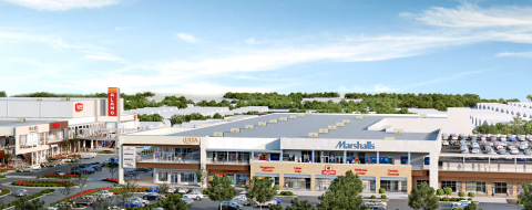 Project rendering for The Boulevard - a 460,000-square-foot, multi-story open-air shopping center wi ...