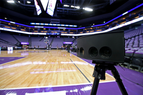 Beginning with NBA All-Star 2018 in Los Angeles, Intel will become the Exclusive Provider of Virtual Reality for NBA on TNT and deliver live NBA game action for a regular schedule of marquee matchups. Intel True VR cameras capture game footage from all angles, creating an immersive viewing experience. (Credit: Intel Corporation)