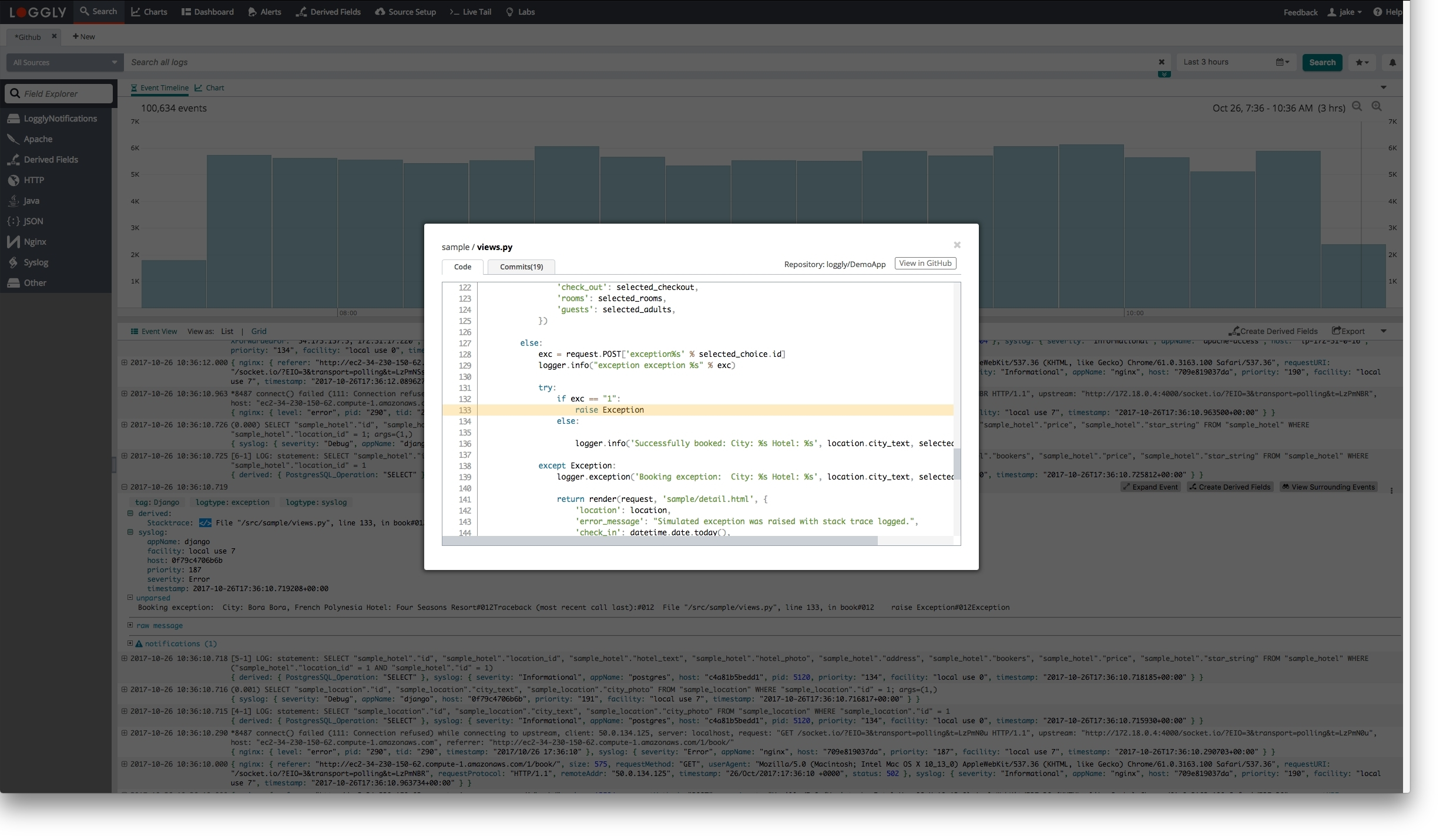 Loggly Becomes the First Company to Connect Log Analysis with Source ...