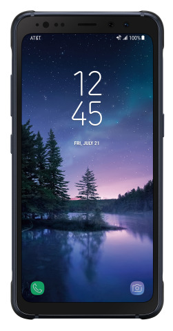 The Samsung Galaxy S8 Active in Meteor Gray will be available on the Sprint and T-Mobile networks later this month. (Photo: Business Wire)