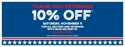 Southeastern Grocers launches All for Honor campaign to recognize active military and veterans with 10 percent discount on qualifying grocery purchases this Veterans Day, Nov. 11, 2017. (Photo: Business Wire)