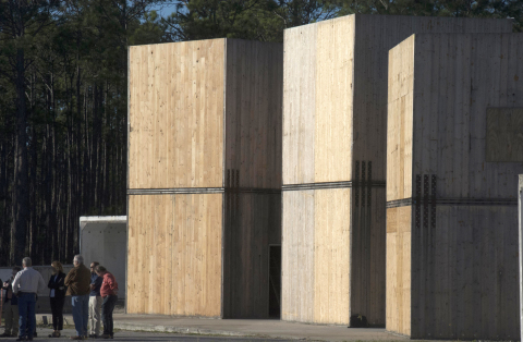 Second series of blast tests further demonstrates performance of mass timber structures. (Photo: Wood Products Council)