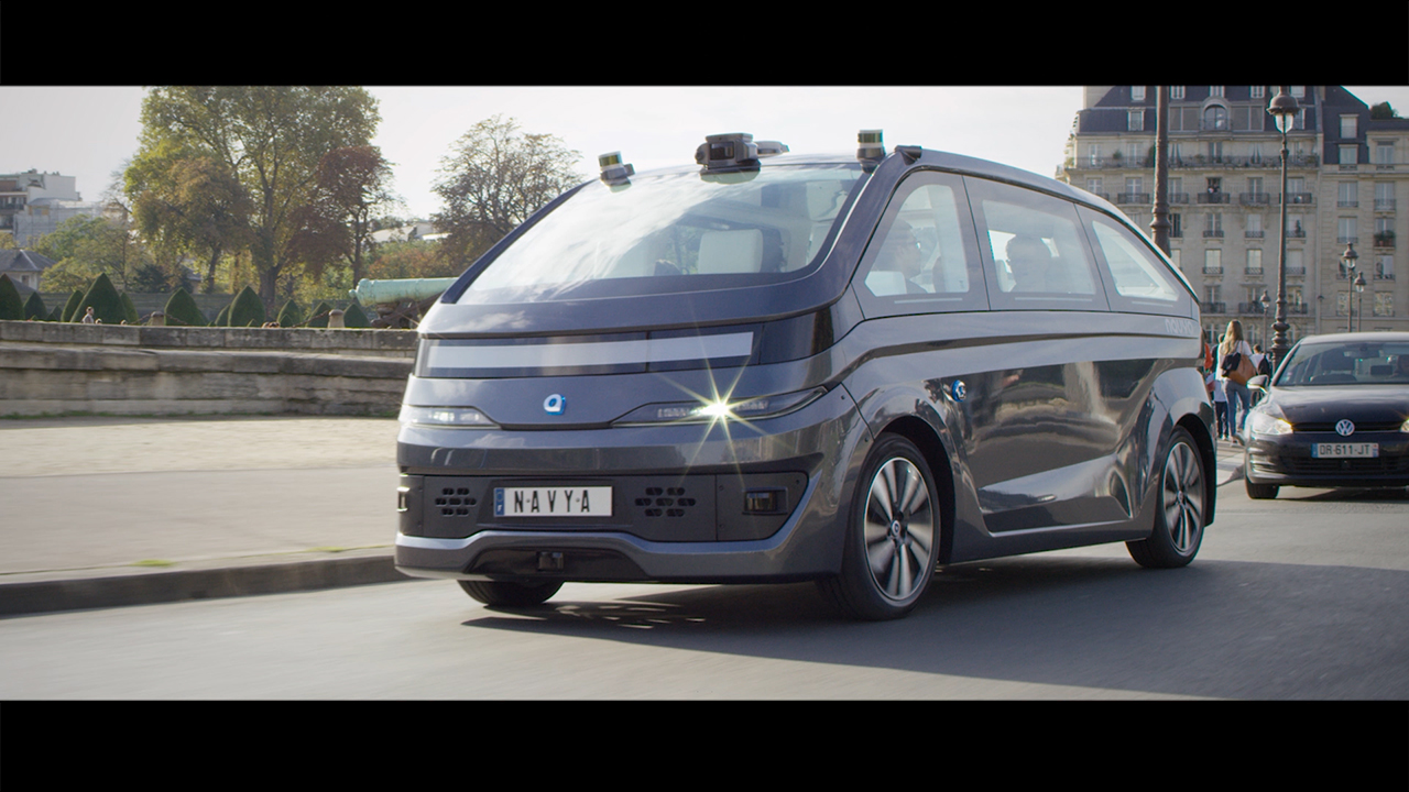 French autonomous vehicle maker NAVYA's new AUTONOM CAB drives itself through Paris.