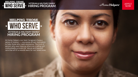 Home Helpers has launched an aggressive campaign to recruit veterans and armed forces dependents. (Photo: Business Wire)