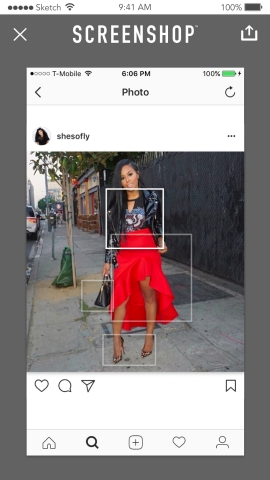 Introducing ScreenShop, new mobile app that turns your screenshots into a shoppable boutique (Photo: Business Wire)