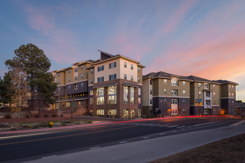 Northern Arizona University and American Campus Communities celebrate the opening Skyview (Photo: Business Wire)