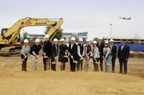 Construction begins on the First Freestanding Emergency Room & Urgent Care Facility on Airport Property in the United States (Photo: Business Wire)