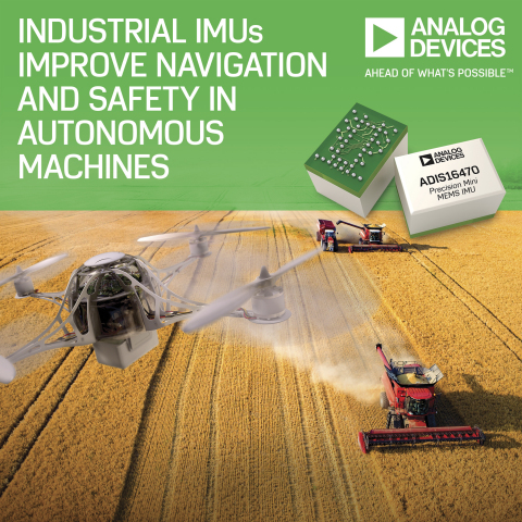 Analog Devices' Industrial Inertial Measurement Units Improve Navigation and Reliability in Autonomous Machines (Photo: Business Wire).