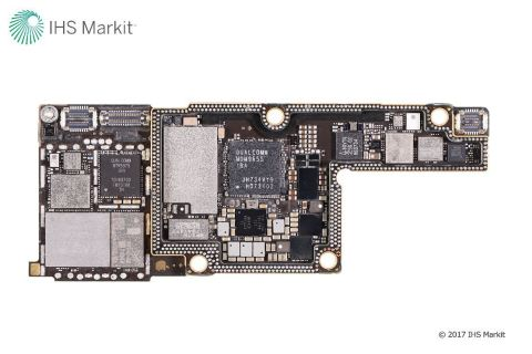 Interface/RF PCB (top), Apple iPhone X Source: IHS Markit