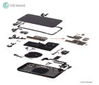 Exploded view (with exploded PCB stack), Apple iPhone X. Source: IHS Markit
