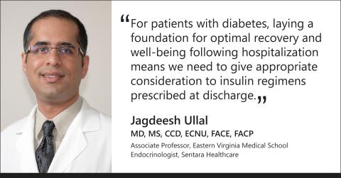 Principal investigator of the study, Dr. Jagdeesh Ullal, associate professor at Eastern Virginia Medical School and endocrinologist at Sentara Healthcare. (Graphic: Business Wire)