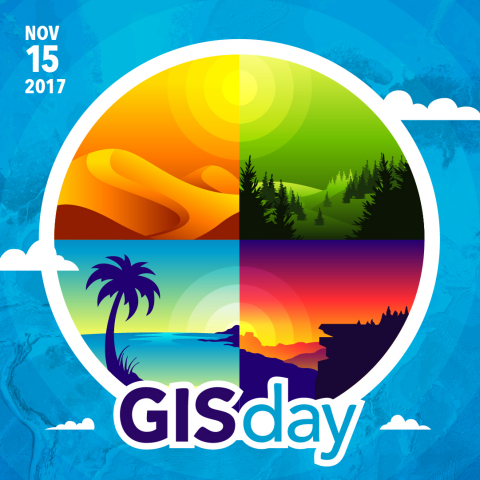 Esri, the global leader in spatial analytics, today announced that the nineteenth annual observation of GIS Day will take place on November 15, 2017. (Graphic: Business Wire)