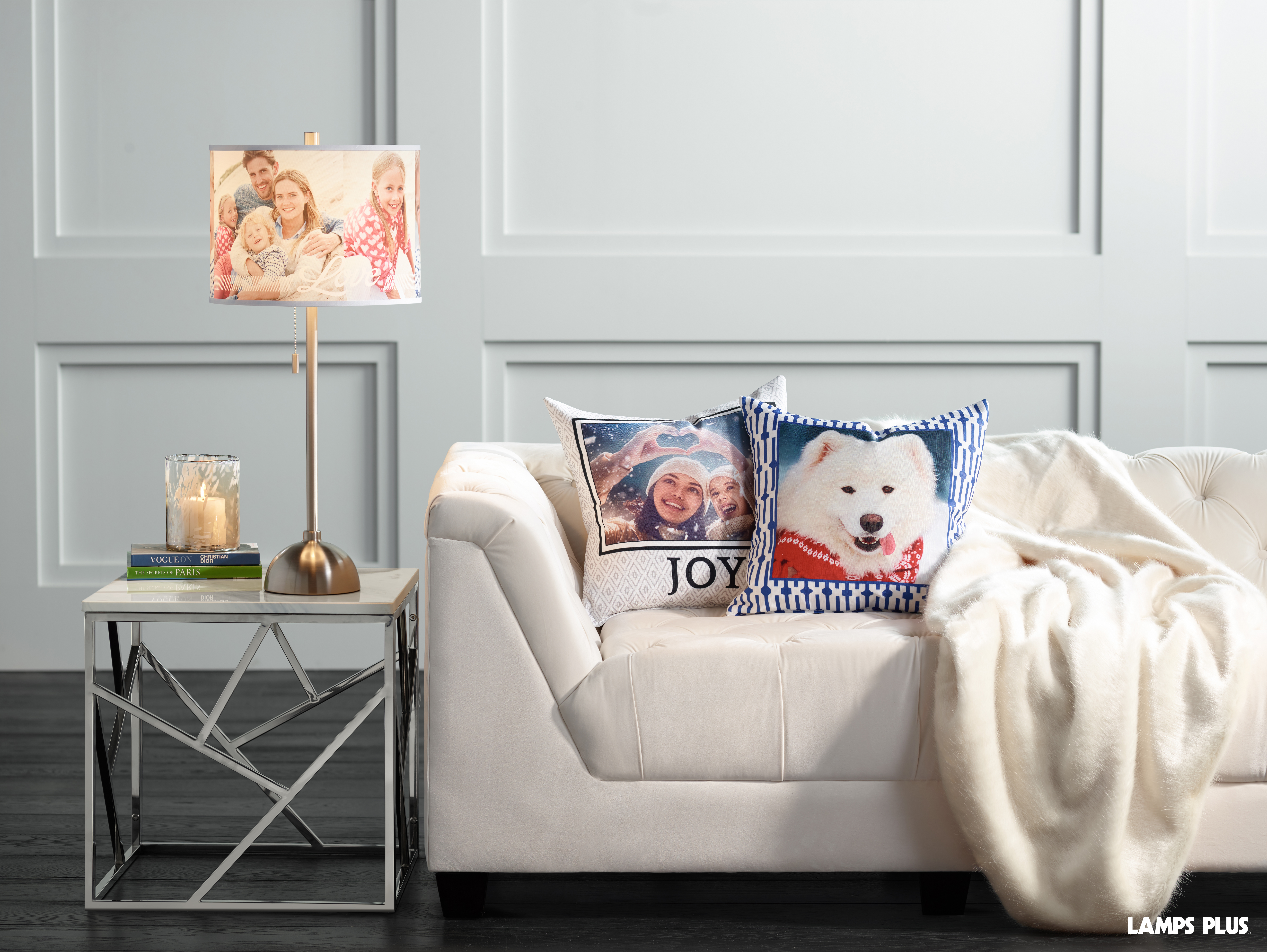 New Custom Photo Lighting And Pillows From Lamps Plus Offer Infinite  Interior Design Options For Personal Pictures, Messages And Self Made  Designs ...