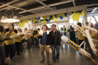 First customers at IKEA Jacksonville are greeted by co-workers to celebrate today's grand opening of the Swedish company's fifth Florida store. (Photo: Business Wire)
