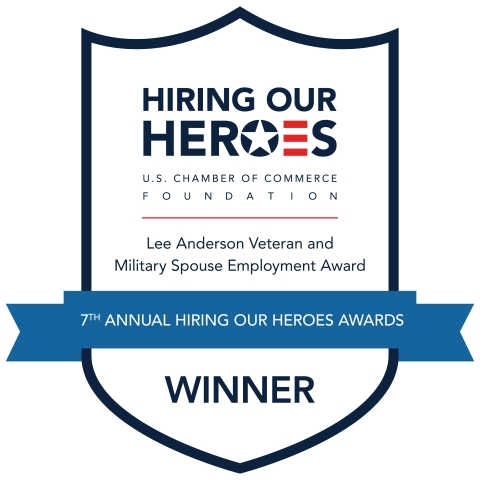 Hiring Our Heroes Lee Anderson Veteran and Military Spouse Employment Award Winner (Photo: Business Wire)