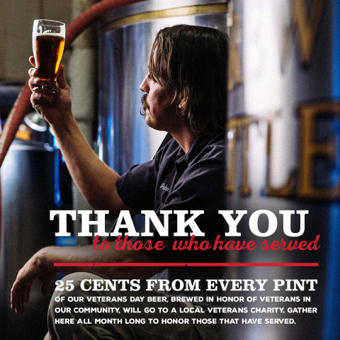 CraftWorks Restaurants & Breweries, Inc., the Nation's Leading Operator and Franchisor of Brewery, Craft Beer and Casual Dining Restaurants, Honors Our Military Heroes This Veterans Day. (Graphic: Business Wire)