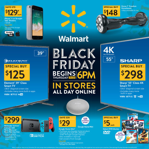 With Must-Have Products, Great Prices, More Availability and Easier Shopping, Walmart Helps Customers Rock Black Friday 2017 (Photo: Business Wire)