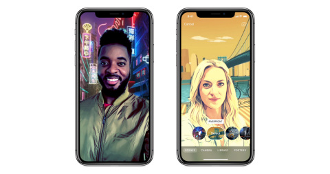 Clips Introduces Selfie Scenes for Immersive, 360-Degree Selfies on iPhone X (Photo: Business Wire)