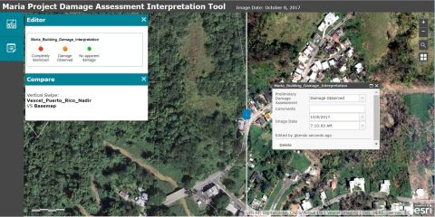 Esri today announced it is providing its ArcGIS platform, along with high-resolution imagery from the Vexcel Corporation, to students so they can use it to identify and assess buildings in Puerto Rico that were damaged by Hurricane Maria. (Photo: Business Wire)