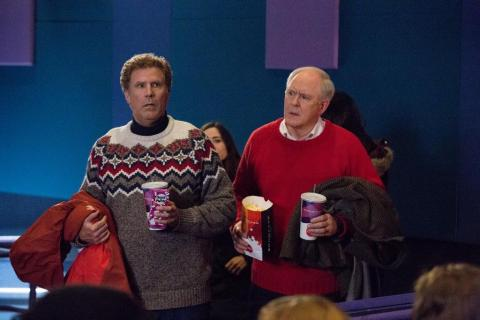 """""""Daddy's Home 2"""" stars Will Ferrell and John Lithgow in Showcase Cinemas' culminating scene of the hilarious holiday movie. (Photo courtesy of Paramount Pictures.)"""