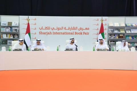 During the UAE Cabinet Meeting at Sharjah International Book Fair 2017 (Photo: Dubai Government Medi ...