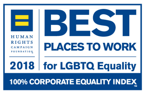 Dorsey & Whitney LLP has for the twelfth consecutive year received a 100% rating--a perfect score--on the 2018 Corporate Equality Index (CEI). (Graphic: Human Rights Campaign)