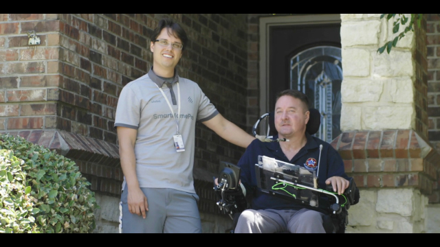 Smart home technology gives Jack Fanning a life-changing level of freedom in his home. (Video: Business Wire)