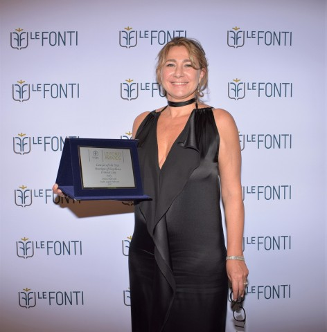 Chiara Padovani awarded at Le Fonti Awards 2017 (Photo: Business Wire)