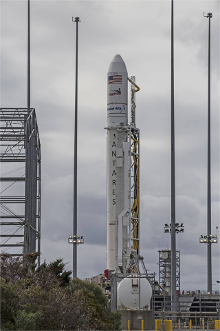 Orbital ATK's Antares rocket and Cygnus spacecraft are set to launch the company's eighth cargo delivery mission to the International Space Station. (Photo: Business Wire)
