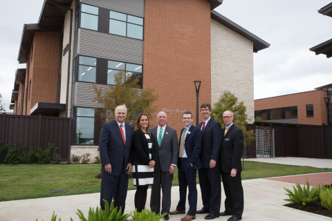 Houston dignitaries joined representatives from FHLB Dallas and Texas Capital Bank for a grand opening celebration of Star of Hope's Cornerstone Community. Star of Hope was awarded a $500K AHP grant this year, which assisted in the construction of the women and family development center. (Photo: Business Wire)