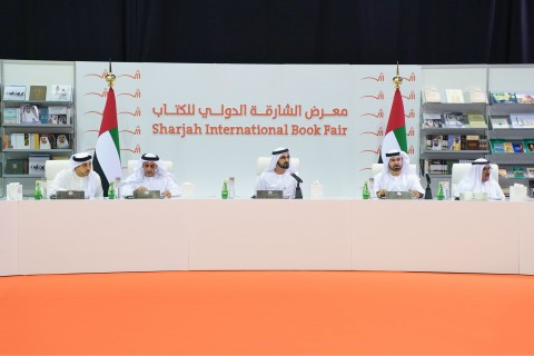 During the UAE Cabinet Meeting at Sharjah International Book Fair 2017 (Photo: Dubai Government Media Office)