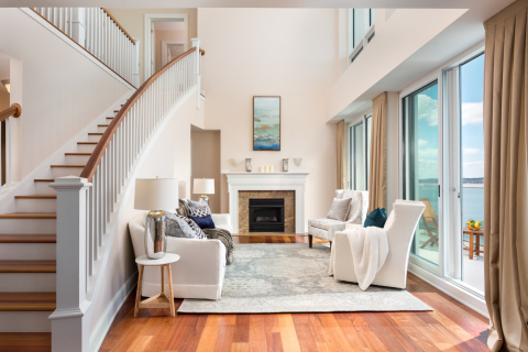 Beautiful interior from one of the updated condominiums in The Carnegie Tower. (Photo: Business Wire).