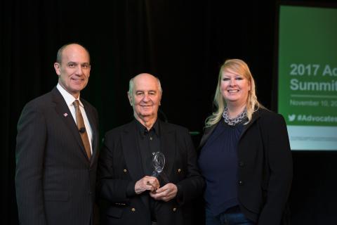 Photo: Harold Evensky, Evensky & Katz / Foldes Financial, winner of the 2017 TD Ameritrade Advocacy  ...
