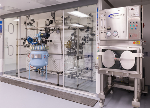 One of three new 200-L Pfaudler reactors paired with GL Filtration driers in Longmont, CO. (Photo: Business Wire)