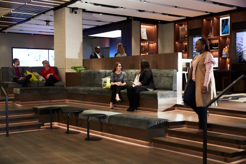 The nucleus of the gallery, the Innovation Theater serves as a gathering space to brainstorm, collaborate and intersect around innovative ideas. (Photo: Business Wire)
