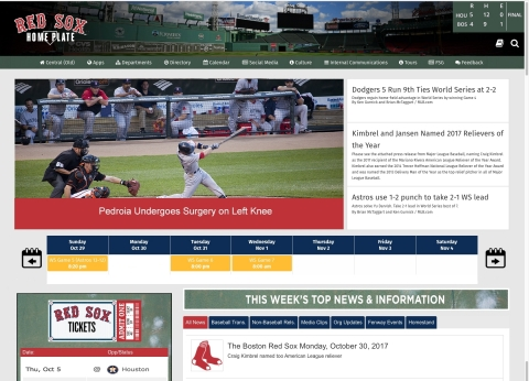 Boston Red Sox New Global Digital Workplace (Graphic: Business Wire)