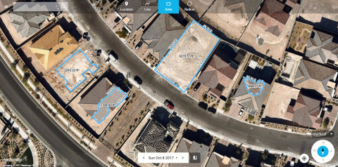 Nearmap has long provided vertical imagery, covering about 70 percent of the U.S. population. This photo shows residential construction in the Las Vegas area. (Photo: Business Wire)