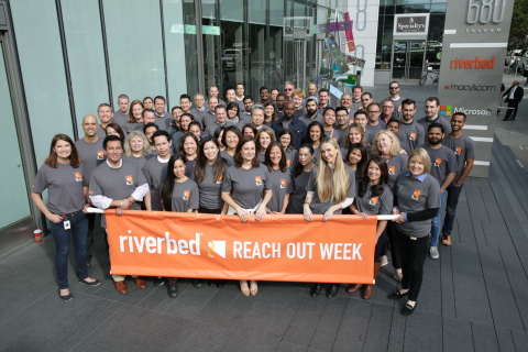 Riverbed employees to participate in week-long community service effort, REACH OUT Week, to positively affect over 30 global charities with over 1000 hours of community service (Photo: Business Wire)