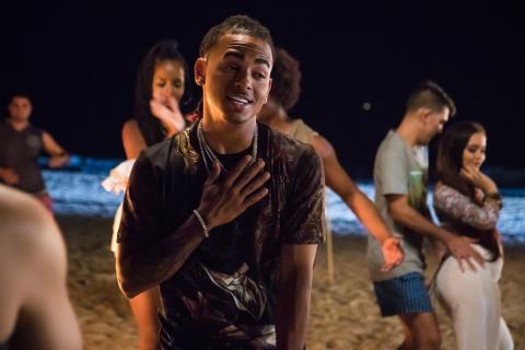 "Ozuna films in Isla Verde the theme ""Oye como va"" (Hear how it goes). (Photo: Business Wire)"