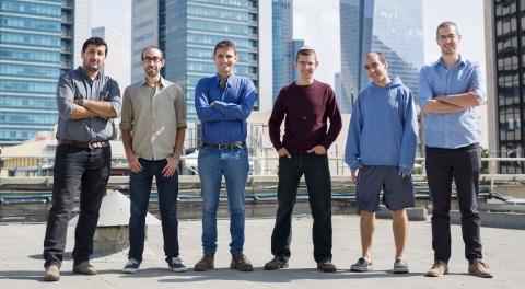 Medigate team: From left to right. Co-founder/VP Product Pini Pinhasov, Oran Avraham, Co-founder/CEO Jonathan Langer, Vitali Sepetnitsky, Nir Benudiz, Co-founder/VP R&D, Itay Kirshenbaum. (Photo: Business Wire)