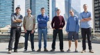 Medigate team: From left to right. Co-founder/VP Product Pini Pinhasov, Oran Avraham, Co-founder/CEO Jonathan Langer, Vitali Sepetnitsky, Nir Benudiz, Co-founder/VP R&D, Itay Kirshenbaum. (Photo: Business Wire)