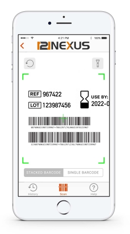 121nexus Scanner App instantaneously reads healthcare barcodes and delivers device-specific informat ...