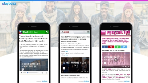 The Playbuzz platform lets users author, distribute and monetize interactive editorial and commercial content. (Photo: Business Wire)