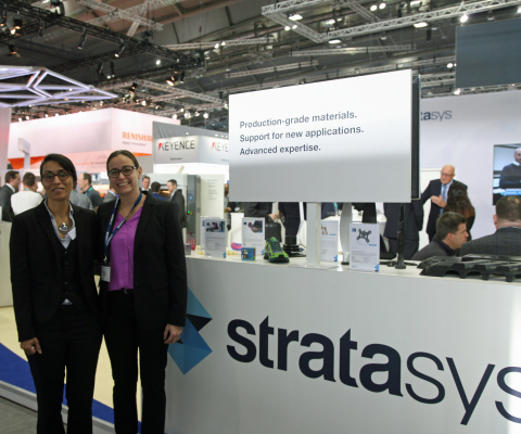 Zoubida El Hachemi, Sales Director Worldwide e-Xstream & Keren Ludomirski Zait, Senior Director of B ...