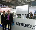 Zoubida El Hachemi, Sales Director Worldwide e-Xstream & Keren Ludomirski Zait, Senior Director of Business Development & Strategic Alliance, Stratasys (Photo: Business Wire)