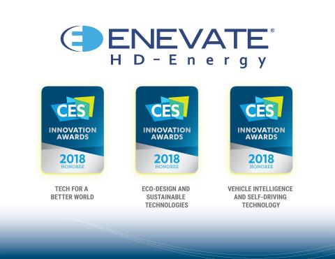 Tecnologia HD-Energy da Enevate para veículos elétricos reconhecida com três prêmios da Consumer Electronics Show (CES) 2018 (Imagem: Business Wire)
