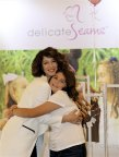 Aida Yodites, founder of Delicate Seams, and daughter, Faith, at the Delicate Seams Launch Event, November 12, 2017 (Photo: Business Wire)